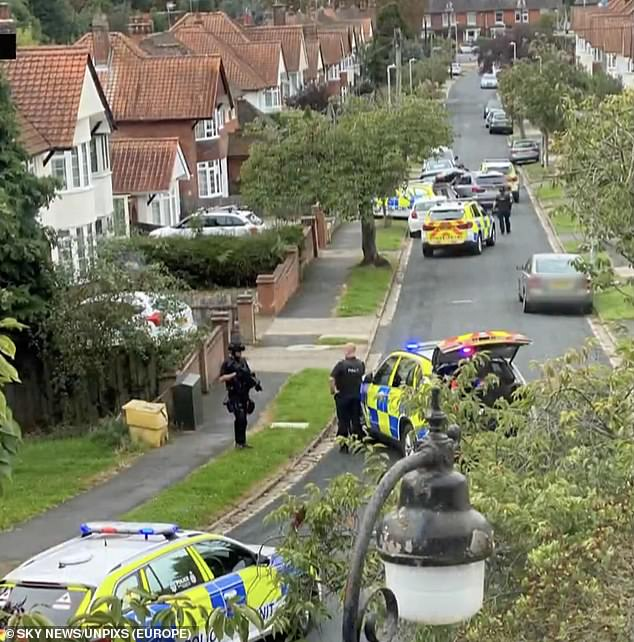 The alleged attacker ¿ believed to be a former friend ¿ is believed to have hid in a back garden behind an animal enclosure just moments after the attack in Kesgrave, Suffolk