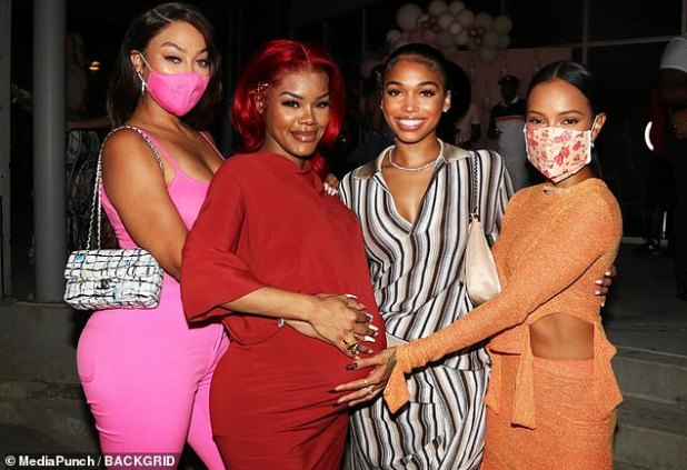 Star-studded Shower: She was joined by friends such as La La Anthony, Karrueche Tran, Lori Harvey, Karen Civil and Ming Lee Simmons