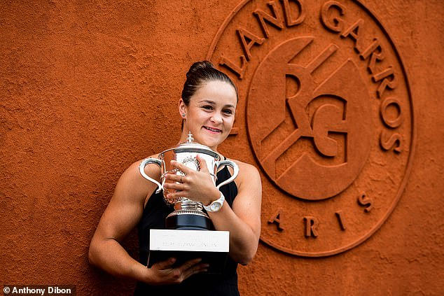 Ash Barty won her maiden grand slam at the 2019 French Open but won't dend her title