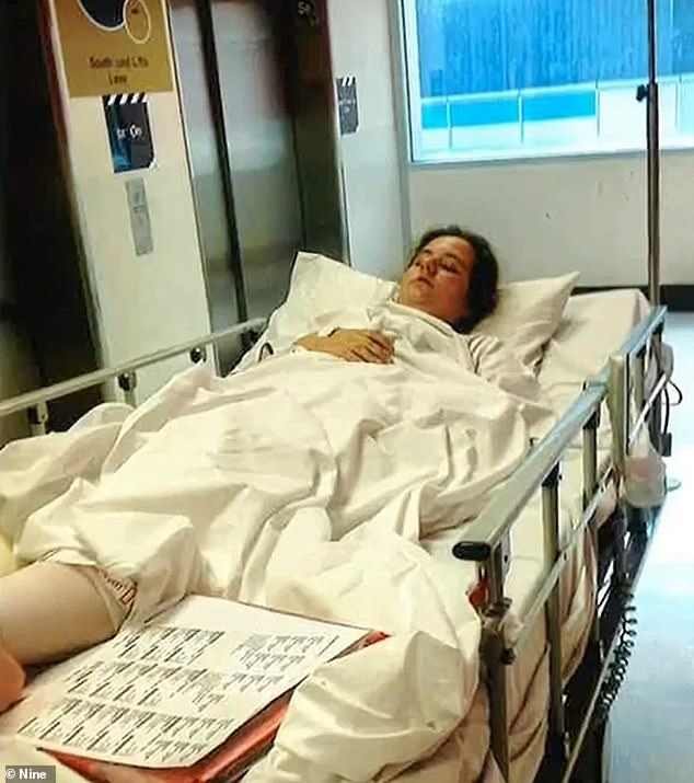 Single mum Nancy spent four years investigating her daughter Alisha's (Alisha pictured in hospital) horror car crash after police ruled the 19-year-old was the only driver involved
