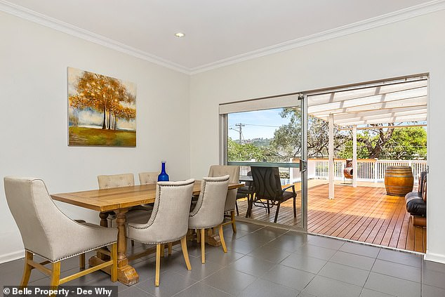 Location, location: The home is located close to Cam's parents and minutes away from Dee Why beach