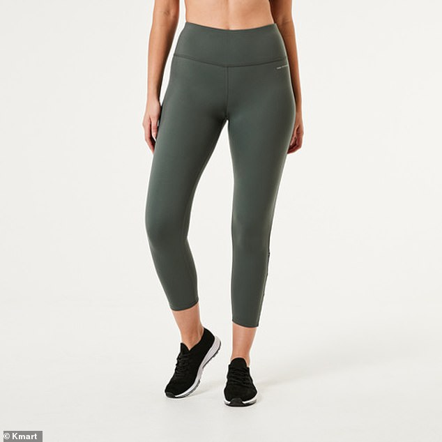 The Active Women's Ankle Length Yoga Legging (pictured) received praise on Facebook after one woman said the budget tights are better than her expensive alternatives