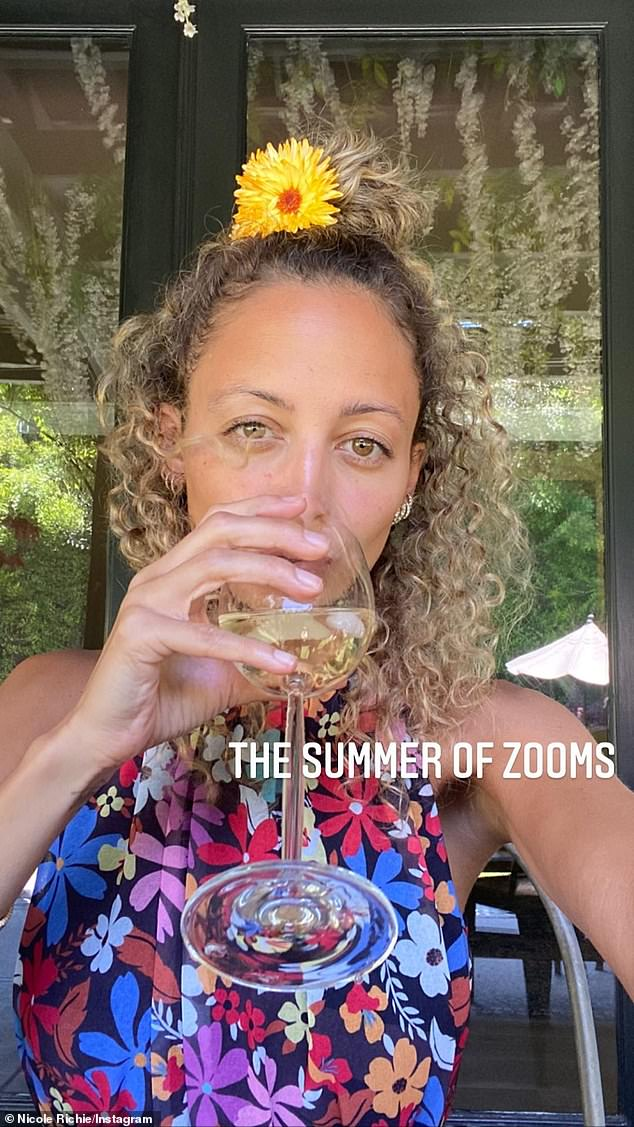 The 38-year-old daughter of Lionel Richie - who boasts 9.5M social media followers - dubbed the summer of 2020: 'The summer of Zooms!'