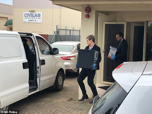 South Australia Police raided the office of Ms Smith's National Disability Insurance Scheme care providers, Integrity Care SA, (pictured above) on Thursday morning