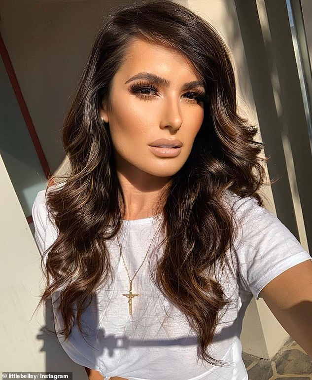 Wise words: On Tuesday, controversial ex-WAG Arabella Del Busso (pictured) said the secret to overcoming haters is to simply live your life with 'integrity and love'