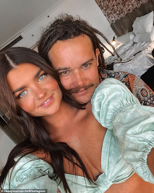 Removing traces of Big Brother: The Perth-based beauty has instead inundated her Instagram account with selfies, photos with her boyfriend (pictured together) and friends, as well as photos of nature