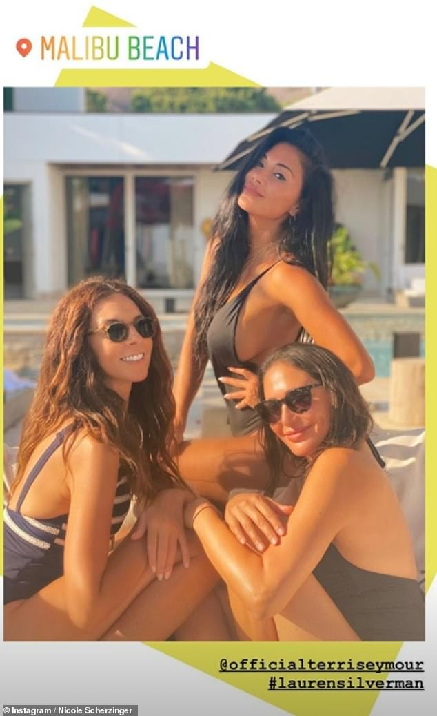 Beach beauties! Nicole and Lauren were joined by Simon's ex-girlfriend Terri Seymour as they enjoyed the holiday weekend with plenty of sunbathing