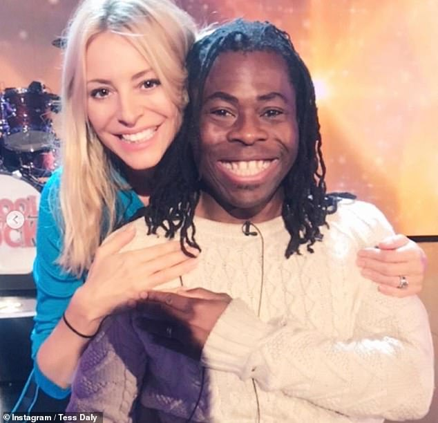 Moving on: In the post Tess shared several snaps from her time on Children In Need, including one with co-host Ade Adepitan