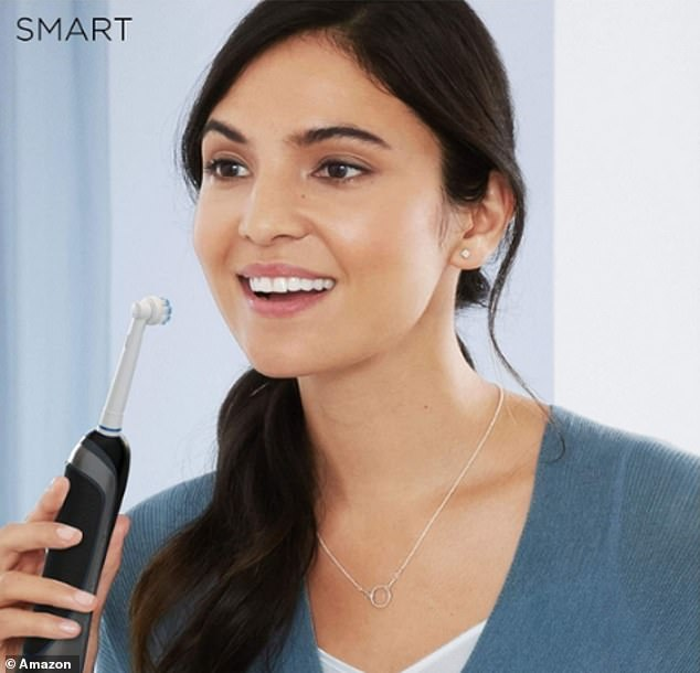 The toothbrush gently whitens your teeth starting as of day one while the visible pressure sensor alerts you if you're brushing to hard, protecting your gums