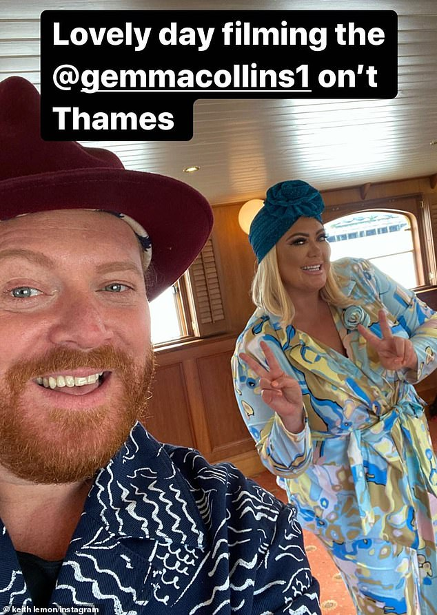 All in a day!It was an exciting day for the reality star as earlier in the day she joined Keith Lemon onboard a boat to film scenes for the second series of his show Shopping