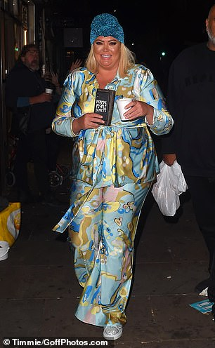 Keeping it real: Gemma was seen carrying a hot beverage and bag of bagels from the legendary Brick Lane shop