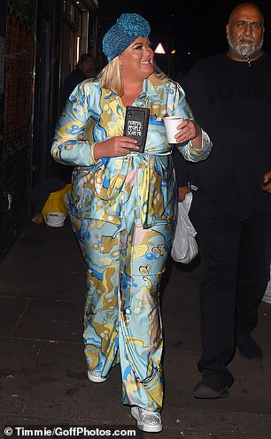 Happy: The TOWIE star flashed a smile