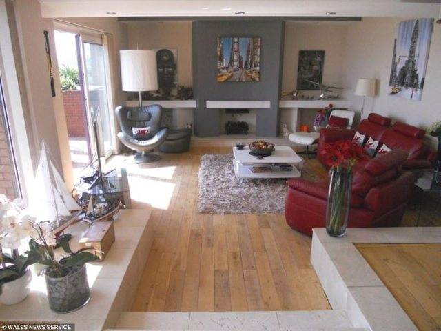 Nice: Polished wooden floors, a fixture throughout much of the four bedroom home, offer an additional touch of style