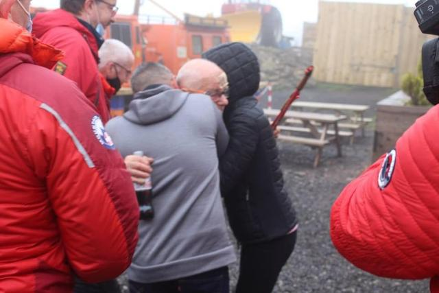 Video shared by the Tan Hill Inn today showed Harry Harvey, 80, stepping out of a Land Rover in the pub carpark, with a bandage across his head, and being embraced by his tearful family. More than 60 people were involved in a huge search operation involving mountain rescue teams, police helicopter, specialist search dogs and handlers