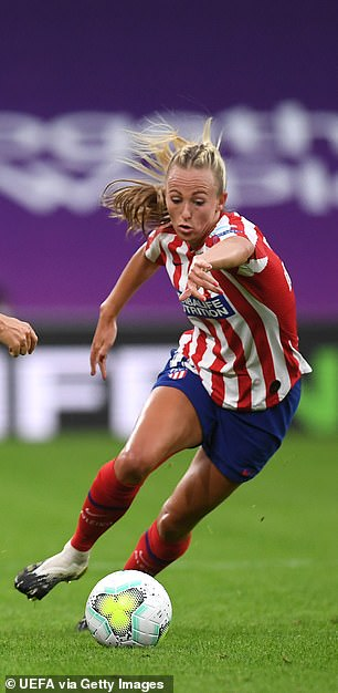 Toni Duggan of Atletico Madrid has been omitted due to the travel restrictions surrounding visitors from Spain to the UK