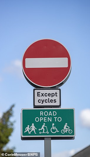Angry residents are protecting the active travel measures that have been put in place on Churchfield Road in Poole