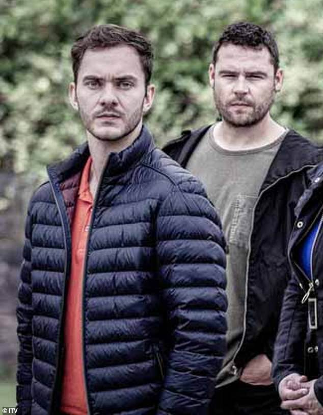 New love interest?Aaron, played by Danny Miller, is left mortified after he runs into newcomer and former classmate Ben at Hide Cafe (pictured)