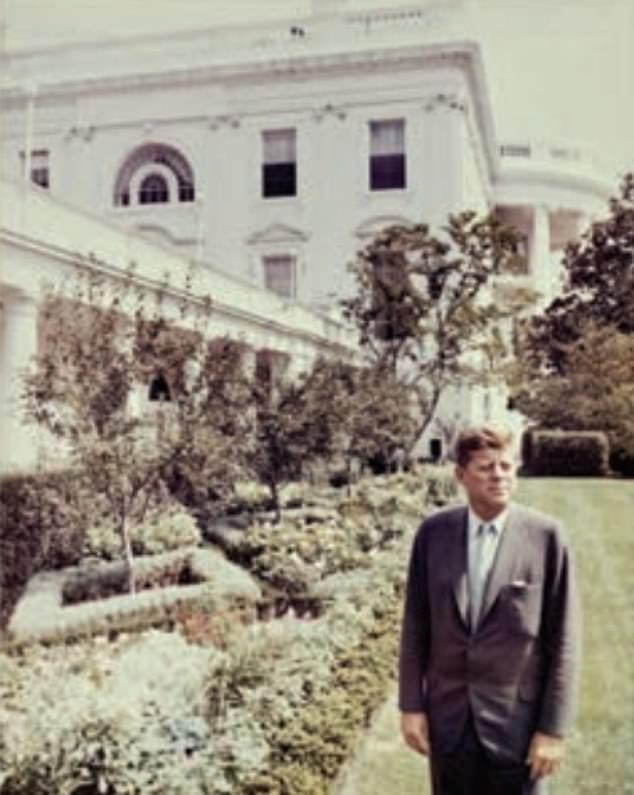 President John F Kennedy in the White House Rose Garden