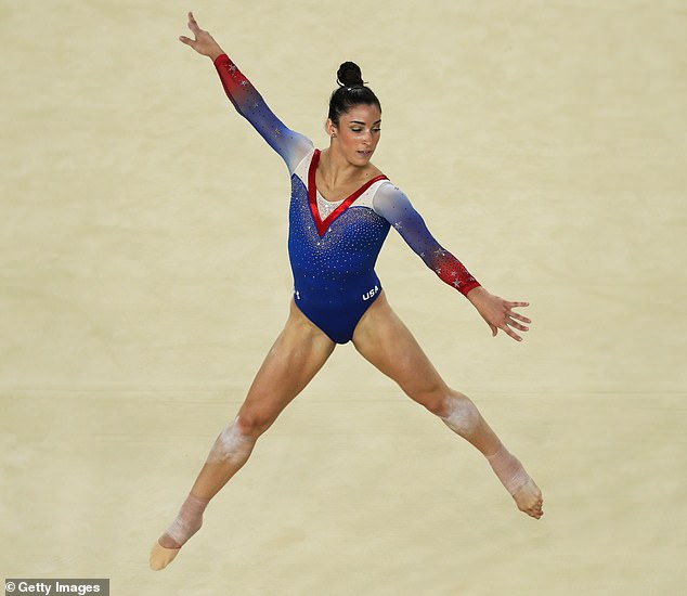 Trouble: The former gymnast, pictured at the 2016 Olympics, said that the thing she's found most difficult following Nassar's abuse is being able to trust her gut when something is wrong