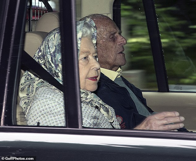 Pictured: The Queen and the Duke of Edinburgh arrive at Balmoral Castle on August 4