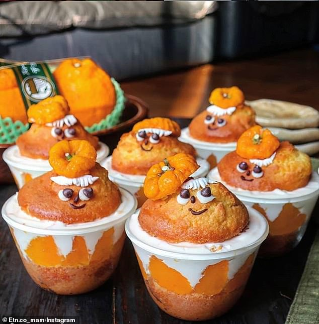 Seriously adorable! These orange-based desserts have been made even more fun by the use of smiley faces and little hats
