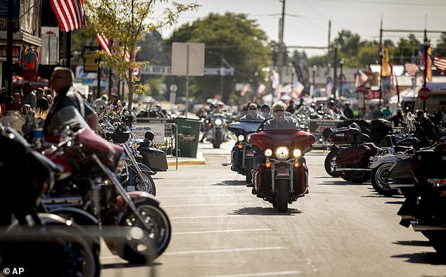 The 10-day event took place between August 7 and August 14 in the town of Sturgis, which has a native population of just 7,000 people