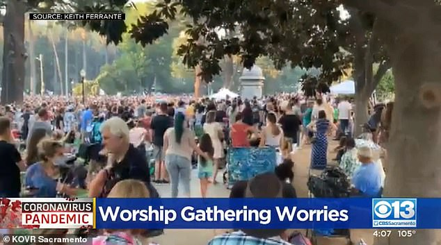 Feucht started the Let Us Worship Movement in response to coronavirus lockdowns. He has been holding services across the United States throughout the pandemic