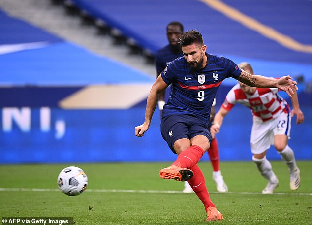 Giroud nets from the penalty sport to secure Nations League victory at Stade de France