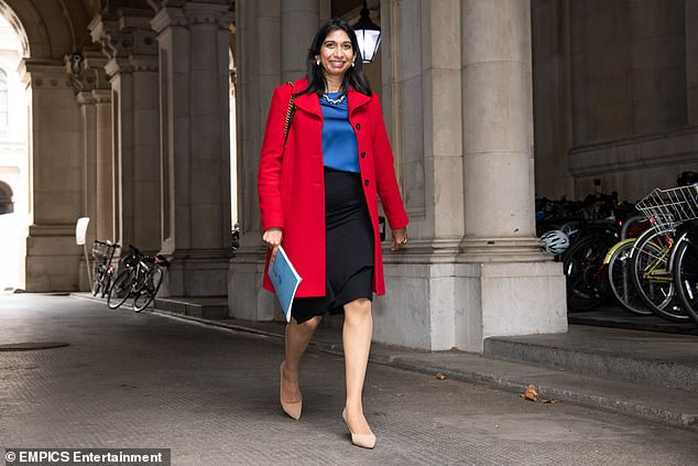 Attorney General Suella Braverman (pictured) and Justice Secretary Robert Buckland also faced calls to quit. But sources said both ministers would stay