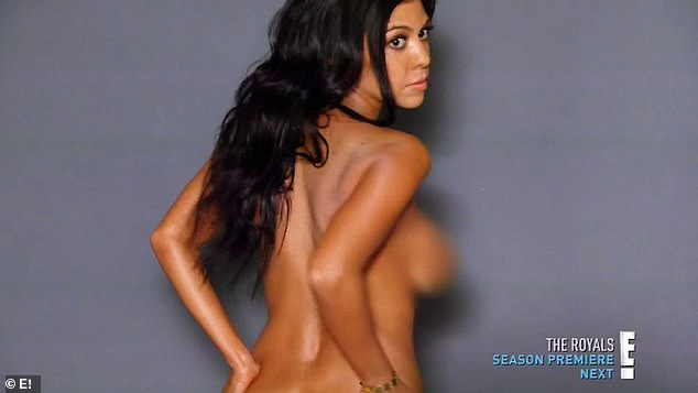 Freshly single: After splitting from Scott Disick, Kourtney stripped down for a fresh photoshoot