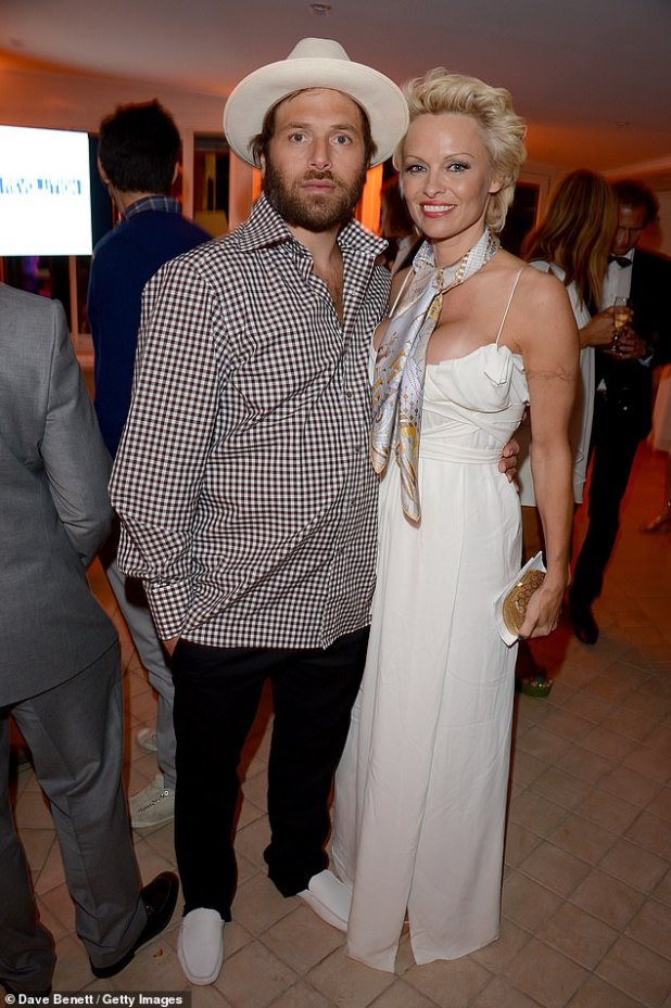 On and off: Between 2007 and 2008, and between 2014 and 2015 and 2014 (pictured in 2014) married New Jersey native model Pamela Anderson twice.