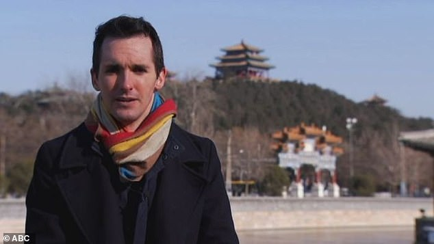 The explanation for Ms Cheng's arrest comes after two Australian reporters, Bill Birtles (pictured) from the ABC and Michael Smith from the AFR, fled China fearing for their safety