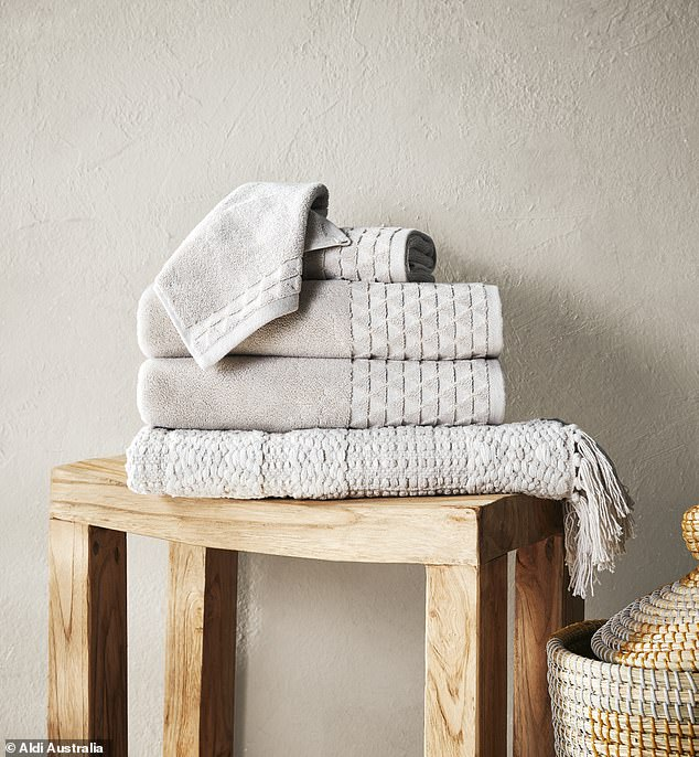 In addition to the collection, there's a $29.99 four-piece towel set, which includes two bath towels, hand towel and a face washer