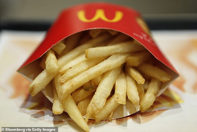 Previously, a chef with millions of followers on social media revealed how to make McDonald's chips at home - and the secret lies in frying them twice (McDonald's fries pictured)