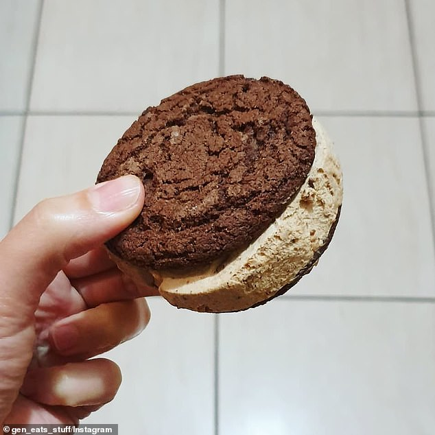 Reese's has unveiled a decadent peanut butter-flavoured ice cream, sandwiched between two chocolate cookies