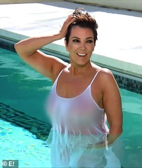 It's a no from Kourt: She even jumped into a pool, which Kourtney called 'so embarrassing'
