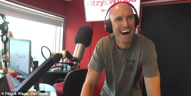 Pals: Ryan 'Fitzy' Fitzgerald (pictured), who started his career in Adelaide and now hosts Nova's Fitzy and Wippa breakfast show in Sydney, shared a touching tribute to Jarrod on Twitter