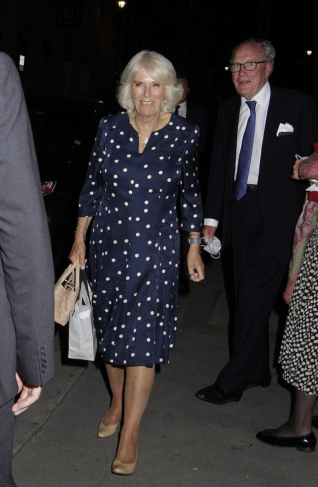 Camilla put on a stylish display as she was spotted going for a rare dinner with friends at private members club Oswald's in Mayfair, London on Tuesday