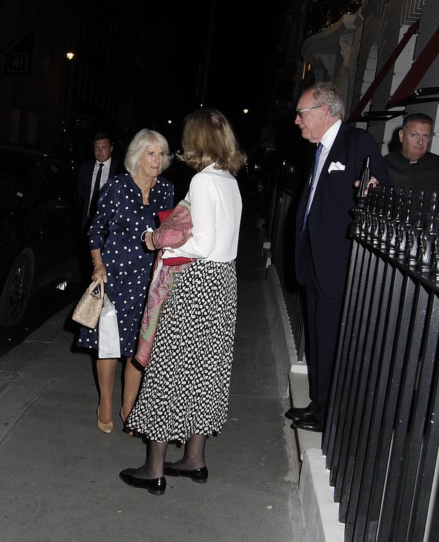 Camilla (pictured with pals) was seen at Oswald's, which is named after owner Robin Birley's grandfather, and is a club for both men and women - with a huge focus on wine