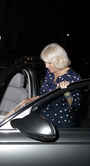 The royal could be seen stepping into the front passenger side of a car
