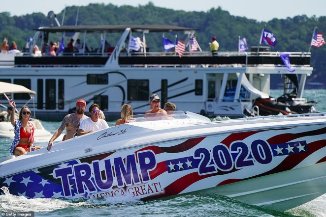 At least nine cities across the United States held Trump Boat Parades on Sunday to draw up support for the current Commander-in-Chief ahead of the presidential election in November
