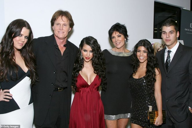 Reality royalty! The famous family are pictured at the Keeping Up with the Kardashians premiere in LA back in 2007, before they took over the world