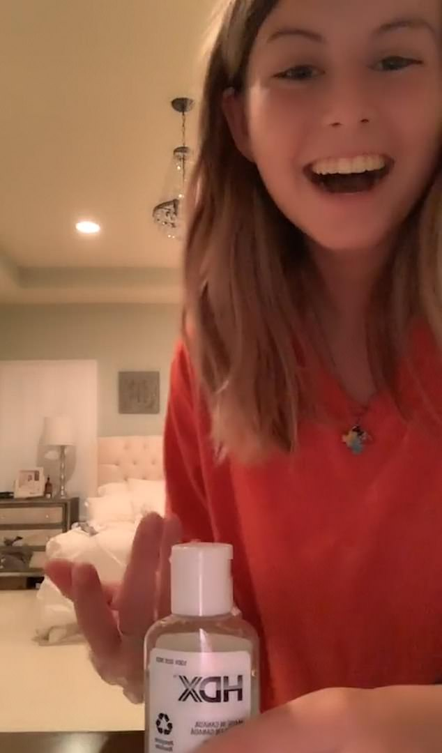 Emily begins to laugh and is shocked as her father outsmarts her and walks away with the $5 bill