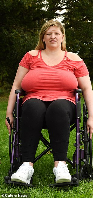 After she was injured Miss Horton used a wheelchair and crutches to move around