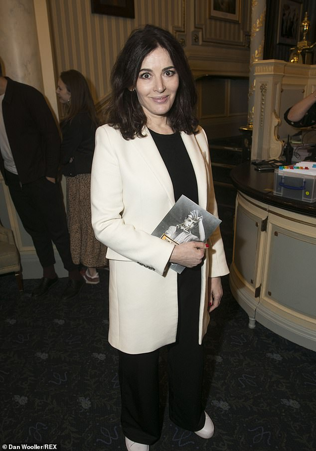 Nigella Lawson, pictured in London in February, responded to Elan-Cane on Twitter saying she was 'very glad to have the opportunity to apologise', adding: 'While I certainly meant no harm, unfortunately that doesn't mean I didn't harm'