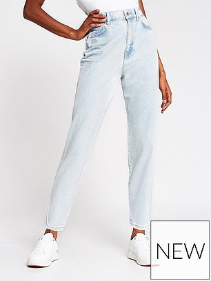 River Island High Waist Tapered Jean (£40) at Very
