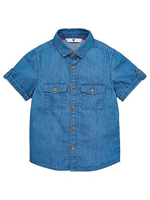 V by Very Boys Short Sleeved Denim Shirt (was from £10, now from £7) at Very