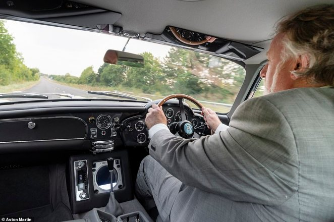 Crammed into the cabin, Ray said he wondered how taller, longer-legged Connery coped? The dashboard resembles the cockpit of a fighter plane – but with extra gadgets to play with