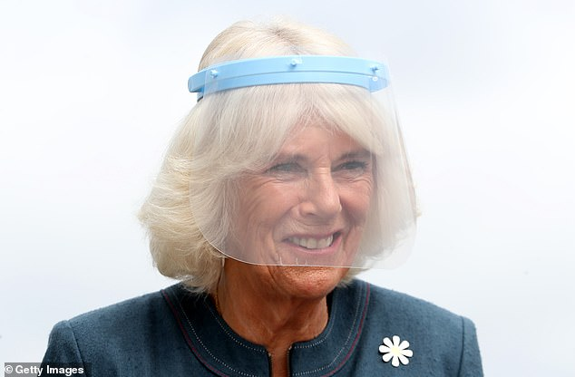 Camilla, pictured at the training center, visited the charity after a night out at exclusive Mayfair private members' club Oswald's last night