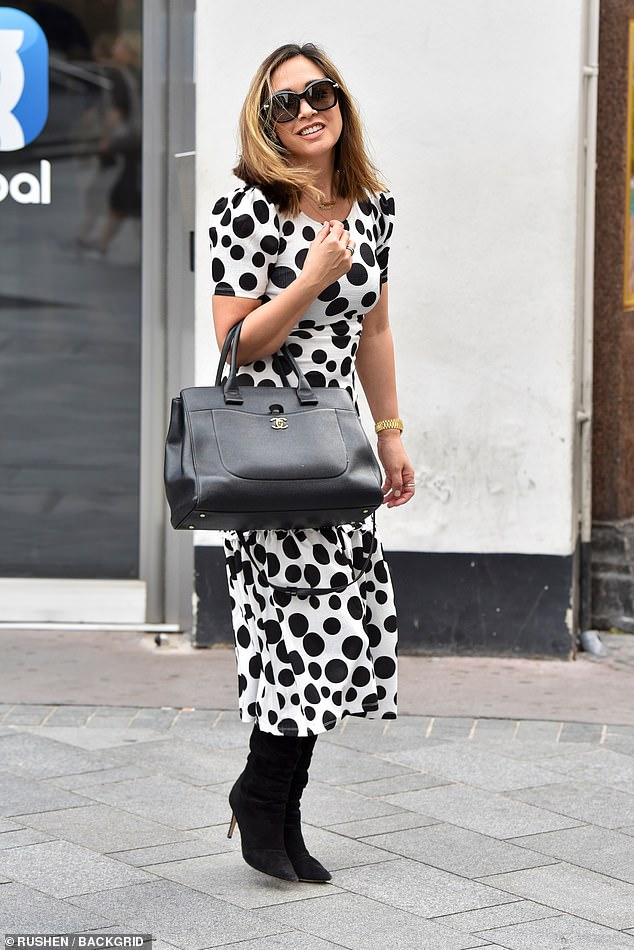 Looking good:Myleene's latest appearance came after her recent social media run-in with a troll who claimed her boyfriend Simon Motson will cheat on her